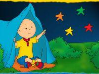 Caillou folge den Sterne Sterne